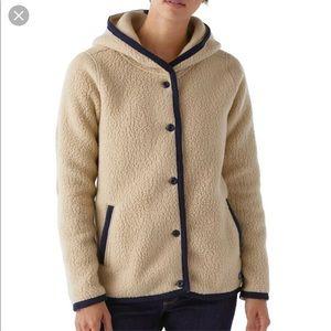 Patagonia Shearling Fleece Hooded Cartigan